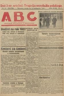 ABC : pismo codzienne : informuje wszystkich o wszystkiem. 1926, nr19