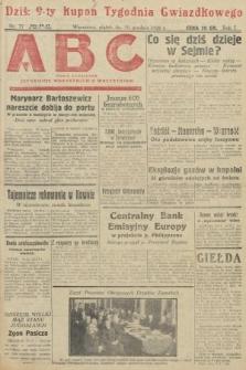 ABC : pismo codzienne : informuje wszystkich o wszystkiem. 1926, nr77