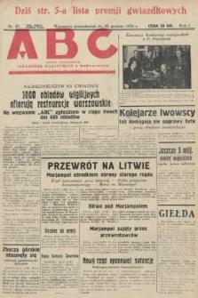 ABC : pismo codzienne : informuje wszystkich o wszystkiem. 1926, nr87