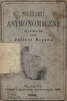 Pogadanki astronomiczne