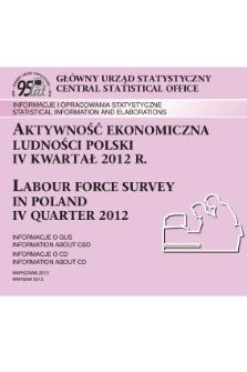 Aktywnosc Ekonomiczna Ludnosci Polski Iv Kwartal 2012