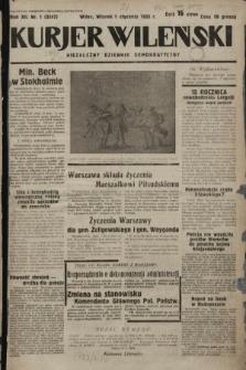 Kurjer Wileński : niezależny dziennik demokratyczny. 1935, nr1