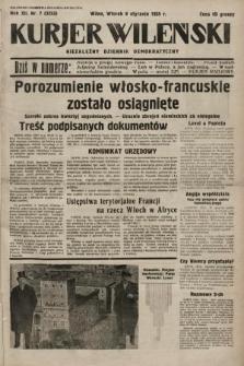 Kurjer Wileński : niezależny dziennik demokratyczny. 1935, nr7
