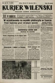 Kurjer Wileński : niezależny dziennik demokratyczny. 1935, nr14