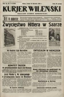 Kurjer Wileński : niezależny dziennik demokratyczny. 1935, nr15