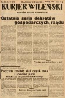 Kurjer Wileński : niezależny dziennik demokratyczny. 1936, nr11