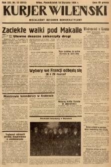 Kurjer Wileński : niezależny dziennik demokratyczny. 1936, nr12