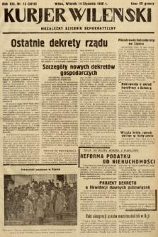 Kurjer Wileński : niezależny dziennik demokratyczny. 1936, nr13