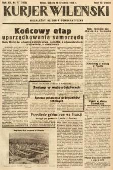 Kurjer Wileński : niezależny dziennik demokratyczny. 1936, nr17