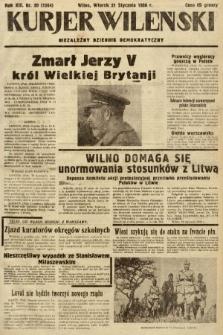 Kurjer Wileński : niezależny dziennik demokratyczny. 1936, nr20
