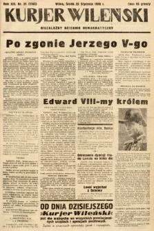 Kurjer Wileński : niezależny dziennik demokratyczny. 1936, nr21