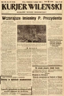 Kurjer Wileński : niezależny dziennik demokratyczny. 1936, nr32