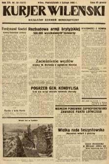 Kurjer Wileński : niezależny dziennik demokratyczny. 1936, nr33