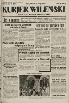 Kurjer Wileński : niezależny dziennik demokratyczny. 1935, nr49