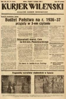 Kurjer Wileński : niezależny dziennik demokratyczny. 1936, nr37