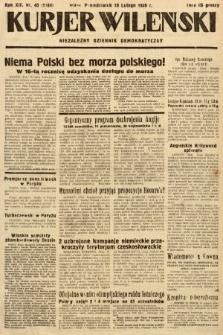 Kurjer Wileński : niezależny dziennik demokratyczny. 1936, nr40