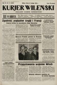 Kurjer Wileński : niezależny dziennik demokratyczny. 1935, nr57
