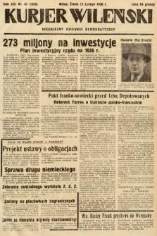 Kurjer Wileński : niezależny dziennik demokratyczny. 1936, nr42