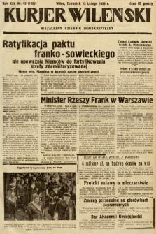 Kurjer Wileński : niezależny dziennik demokratyczny. 1936, nr43