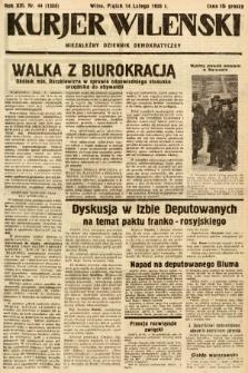 Kurjer Wileński : niezależny dziennik demokratyczny. 1936, nr44