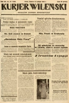 Kurjer Wileński : niezależny dziennik demokratyczny. 1936, nr45