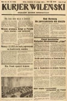 Kurjer Wileński : niezależny dziennik demokratyczny. 1936, nr46