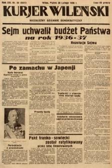 Kurjer Wileński : niezależny dziennik demokratyczny. 1936, nr58