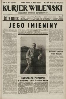 Kurjer Wileński : niezależny dziennik demokratyczny. 1935, nr77