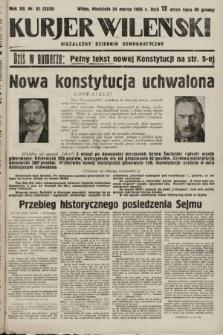 Kurjer Wileński : niezależny dziennik demokratyczny. 1935, nr82
