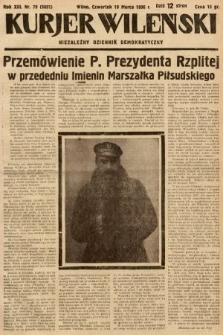 Kurjer Wileński : niezależny dziennik demokratyczny. 1936, nr78