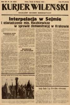 Kurjer Wileński : niezależny dziennik demokratyczny. 1936, nr84