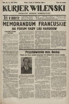 Kurjer Wileński : niezależny dziennik demokratyczny. 1935, nr106