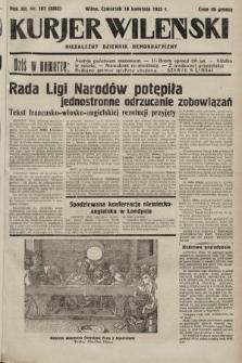 Kurjer Wileński : niezależny dziennik demokratyczny. 1935, nr107