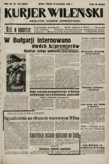 Kurjer Wileński : niezależny dziennik demokratyczny. 1935, nr108