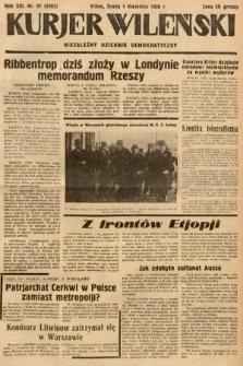 Kurjer Wileński : niezależny dziennik demokratyczny. 1936, nr91