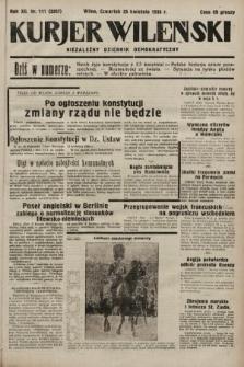 Kurjer Wileński : niezależny dziennik demokratyczny. 1935, nr111