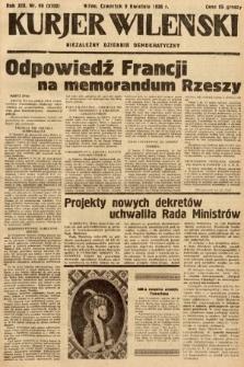 Kurjer Wileński : niezależny dziennik demokratyczny. 1936, nr99