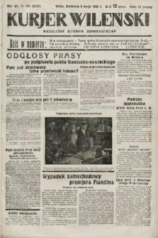 Kurjer Wileński : niezależny dziennik demokratyczny. 1935, nr121