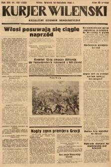 Kurjer Wileński : niezależny dziennik demokratyczny. 1936, nr102