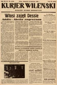 Kurjer Wileński : niezależny dziennik demokratyczny. 1936, nr104