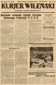 Kurjer Wileński : niezależny dziennik demokratyczny. 1936, nr107
