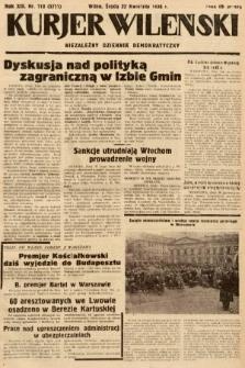 Kurjer Wileński : niezależny dziennik demokratyczny. 1936, nr110