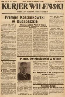 Kurjer Wileński : niezależny dziennik demokratyczny. 1936, nr113
