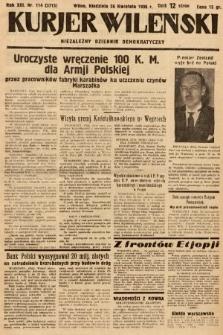 Kurjer Wileński : niezależny dziennik demokratyczny. 1936, nr114