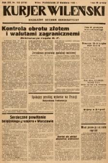 Kurjer Wileński : niezależny dziennik demokratyczny. 1936, nr115