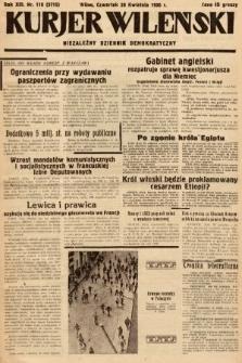 Kurjer Wileński : niezależny dziennik demokratyczny. 1936, nr118