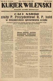 Kurjer Wileński : niezależny dziennik demokratyczny. 1936, nr144