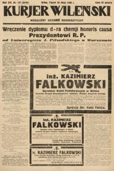 Kurjer Wileński : niezależny dziennik demokratyczny. 1936, nr147