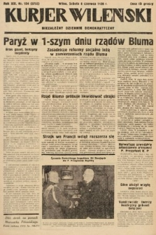 Kurjer Wileński : niezależny dziennik demokratyczny. 1936, nr154