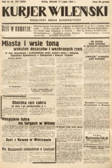 Kurjer Wileński : niezależny organ demokratyczny. 1934, nr192